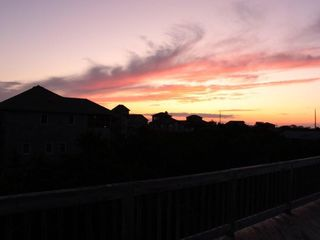 Frisco house photo - sunset from deck