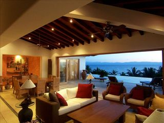 Punta del Burro house photo - Great Room - fully opens to the large terrace and pool area