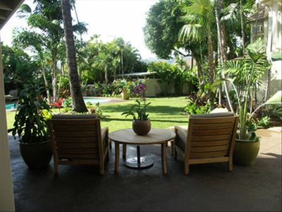 Kahala house rental - Outdoor seating