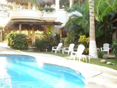 Sayulita house rental - View of Casa Cascada House with pool
