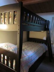 Ludlow cottage photo - New bunks and mattresses, trundle bed on bottom, Sleeps 3.