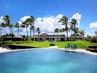 Poipu house photo - Private saltwater pool perched on the ocean's edge