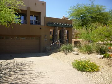 Scottsdale Troon townhome rental - Front elevation