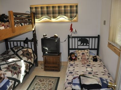 Cranberry Lake cottage rental - Kids Bedroom on Main Floor.