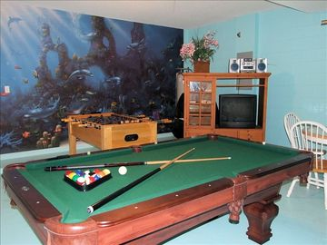 Dont forget to ask for an AIR CONDITIONED Games Room - Pool & Foosball Table
