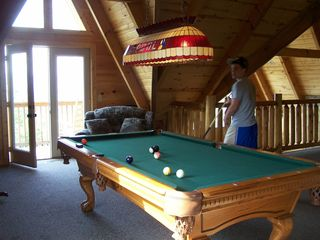 Sevierville chalet photo - Another View From Gameroom - Door To Deck