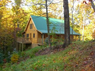 Fall Setting with Side Deck - Wears Valley cabin vacation rental photo