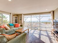 Cute beachfront cottage, ocean waves & gorgeous sunsets right outside the door!