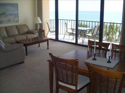 Madeira Beach condo rental - Living area directly on the Gulf of Mexico