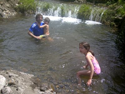 Playing in our River Pool.