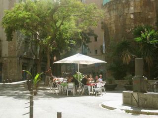 Barrio Gotico apartment photo - Roman door & Traginers square. The closer corner..