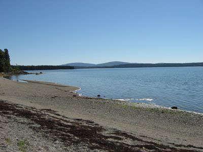Expansive beach.  Level access - easy to walk & launch your kayak from.