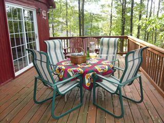 Harpers Ferry cabin photo - tree canopied deck