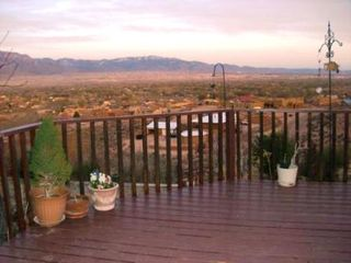 Albuquerque house photo - View of Sandia Mountains from huge deck!