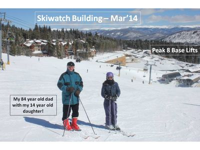 Skiwatch is a great place to ski from-truely ski in and ski out.