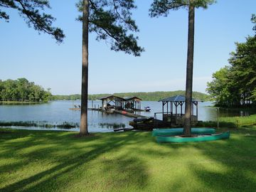 Weiss Lake house rental - Dock View