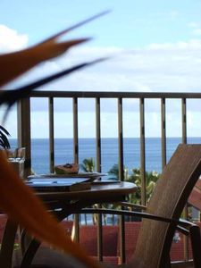 Enjoy full ocean view of Molokai & Northern Maui