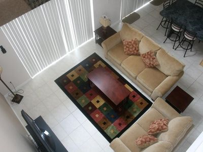 Family room, view from 2nd floor