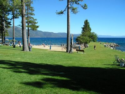 Enjoy a picnic on the grass and take a short walk to the private beach.