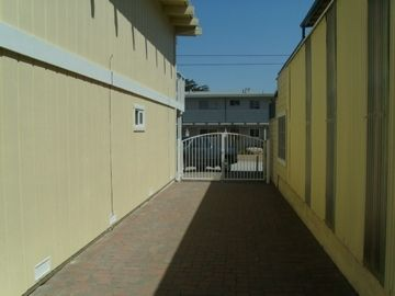 Gated parking area