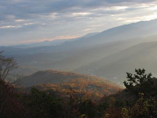 Autumn sunrise, as seen from condo balcony - Gatlinburg condo vacation rental photo