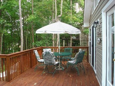 Relax on Large Wrap Around New Deck with Beautiful Lake View