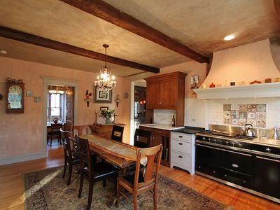 French country kitchen with LaCanche triple oven....