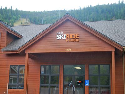 Just steps to Adult Ski & Ride School, too!
