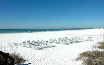 View from Casarina deck. Enjoy the pristine white sand of siesta key and sunset