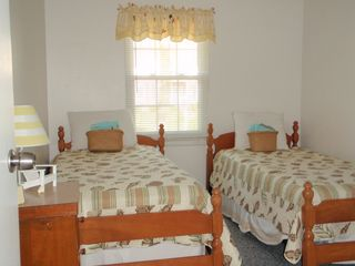 Falmouth house photo - Upstairs bedroom has 2 twin beds.