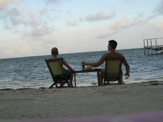 Ambergris Caye house photo - Enjoying the sunset in front of the house