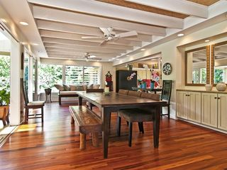 Kailua house photo - Dining area off lanai