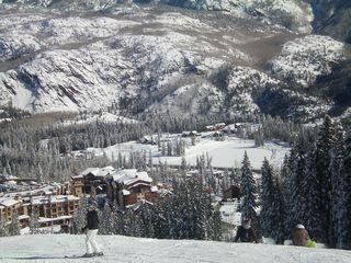 Durango condo photo - View of DMR / Purgatory ski village from ski run