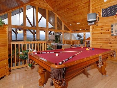 Pigeon Forge cabin rental - GAME ROOM W/ FULL SIZE POOL TABLE