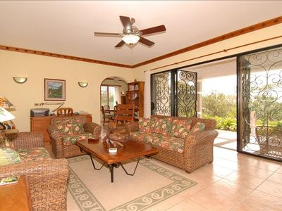 Our generously proportioned living area has sweeping vistas of Lake Arenal!