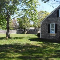 Hyannis - Hyannisport house photo - Side View Of The Property with Plenty Of Shade & Privacy. All Fenced In!