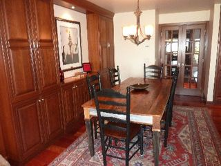 Teton Village condo photo - Dining Area With Seating for Eight, Plus Four More at the Kitchen Center Island