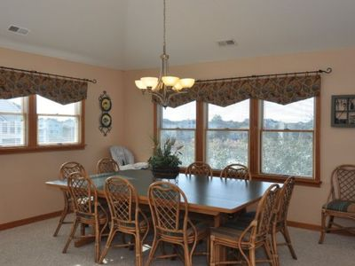Dining Room has beautiful views of the lake.