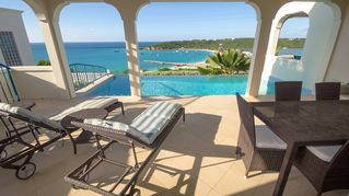 Anguilla villa photo - Spacious pool deck, infinity pool and the view!