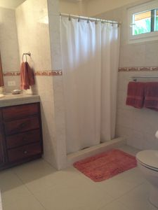 Bathroom with Hot and Cold water and ceiling fan