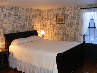 Alton farmhouse photo - The Blue Room has a queen bed, dresser, night stands and relaxed in-room seating