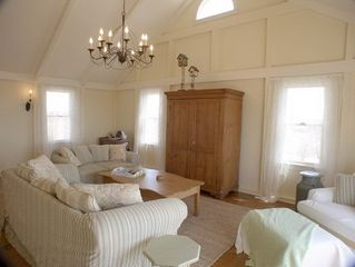Madequecham house photo - Living room; armoire houses Sony flat screen TV and DVD.