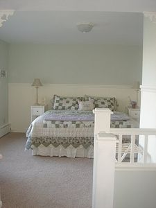Tacoma house rental - Master bedroom w/ king size bed and master bath attached. Great view!