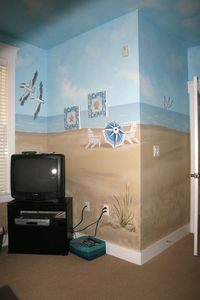 Custom Mural in 'Ocean Friends' (2nd bedroom)