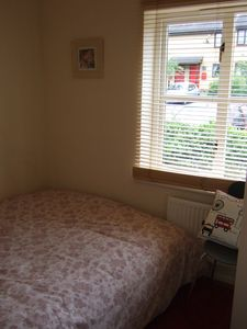 Greenwich apartment rental - Small bedroom but king bed
