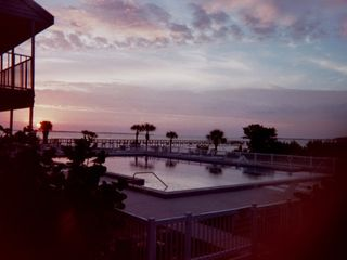 Port Charlotte condo photo - Pool at sunrise.