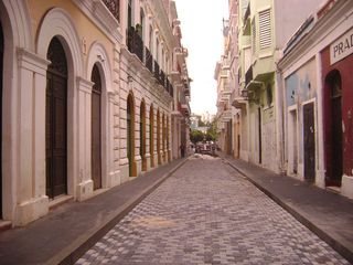 Our street with newly installed cobblestones. - San Juan apartment vacation rental photo