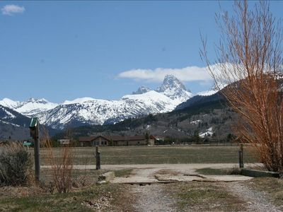 View of the Grand Teton from the front yard