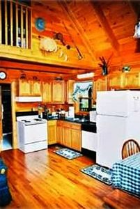 Wears Valley cabin rental - Kitchen includes microwave, dishwasher, coffeepot, crockpot, icecream maker etc.