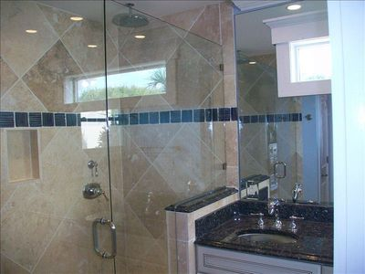 Master bath for bedroom # 1-Dual shower heads in the shower! His and hers.